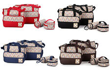 5pcs/Set Baby Changing Diaper Nappy Mummy Handbag Mother Messenger Bags New Tote