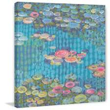 Marmont Hill Homage to Water Lilies II Painting Print on Canvas