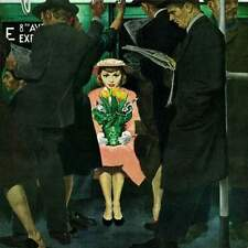 Marmont Hill Subway Girl and Easter Lily George Hughes Painting Print on Canvas