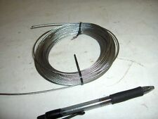"1/32"" 1/16"" 3/32"" 1/8"" Stainless Steel 7x7 Aircraft Cable Wire Rope 25' 50' 100'"