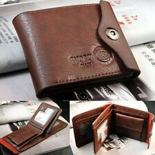 Purse SMALL ZIP Black Brown Men's Coin Slim Bifold Credit Card Wallets MS