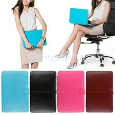 PU Leather Flip Laptop Sleeve Bag Case Cover for Macbook Air/Pro11 13 15 inch