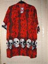 NEW Los Muertos DAY OF THE DEAD HAWAIIAN SHIRT S,M,L,XL 3X or 4x GRINNING SKULLS