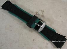 Mens 18mm Sport Rubber Watch Band (blue or green) Fits Digital, Sport, Military