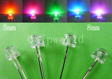 50pcs 5mm 8mm Straw Hat LED Light Emitting Diode Blue Green Yellow Purple White