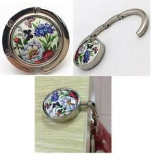 Round Folding Women Handbag Purse Bag Hook Hanger Butterfly/Dragonfly/Peacock