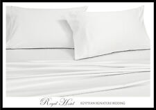 Egyptian Cotton Blend Wrinkle Free Sheets 650 Thread Count White Sheet Set