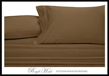 Egyptian Cotton Blend Wrinkle Free Sheets 650 Thread-Count Taupe Sheet Set