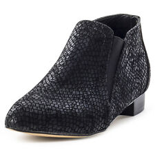 Dolcis Yvonne Animal Pu Womens Chelsea Boots Black New Shoes