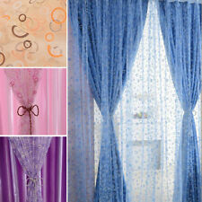 1X Chic Room Bubble Pattern Voile Window Curtains Sheer Panel Drape Curtains