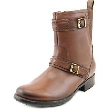 Clarks Plaza City Women  Round Toe Leather Brown Boot