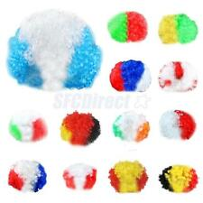 Game Disco Rainbow Afro Clown Hair Football Fan Adult Child Costume Curly Wig