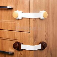 1x Adhesive Kids Child Baby Safety Lock For Cabinet Door Drawer Cupboard