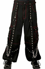 Tripp Nyc Red Techno Gothic Moto Punk Rock Skater Bondage Baggy Pants Af7383M
