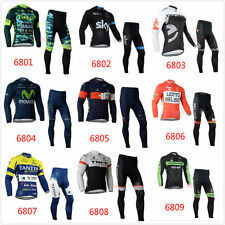 Bike Bicycle Cycling Clothes Long Sleeve Clothing Set Jersey + Pants Suit