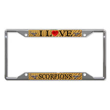 I LOVE SCORPIONS ANIMAL Metal License Plate Frame Tag Holder Four Holes