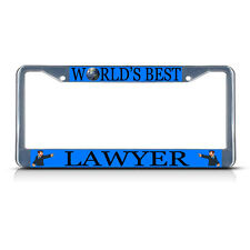 LAWYER CAREER PROFESSION Metal License Plate Frame Tag Border Two Holes