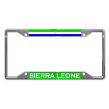 SIERRA LEONE FLAG COUNTRY Metal License Plate Frame Tag Holder Four Holes