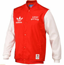 Adidas Team GB Great Britain Bomber Jacket Mens red England Men's