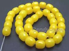 "SALE Big 10*10mm Column shape yellow Natural Jade Loose Beads strand 15"" -los676"