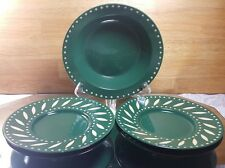 Eddie Bauer Home Green Rimmed Cereal Bowl and 4 Small Plates EBA6 Japan