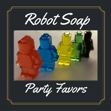Robot Birthday Party Favors Scented Soaps Boys Lego Inspired Robot Pack of 25