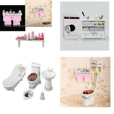 1:12th Scale Doll House Miniature Bathroom Shower Accessories Toiletries Toys