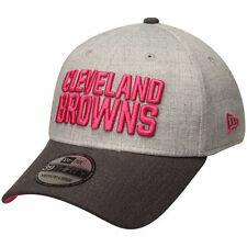 CLEVELAND BROWNS NFL BREAST CANCER BCA NEW ERA 3930 FLEX GRAY/PINK HAT/CAP NWT