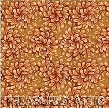 "10~Jelly Roll or Honey Bun 2.5""or 1.5""Rust Brown Floral Fabric Strips Quilting"