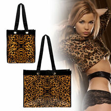 New Small /Large Reusable Leopard Waterproof Tote Bag Shopping Storage Bags Gift