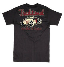 LUCKY 13 TRADITIONAL HOT RODS T SHIRT SPEED FREAKS CHEAP THRILLS SPEEDWAY