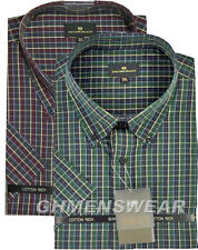 COTTON VALLEY SHORT SLEEVE CHECK SHIRT Size XXL XXXL 2XL 3XL 4XL 5XL 6XL 7XL 8XL