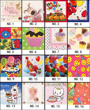 20 PCS Birthday Series Paper Napkin Party Paper 100% Virgin Wood 33X33CM 2 Ply