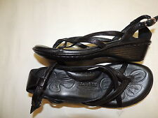 BORN Black Leather Thong Sandals Comfort shoes size 6 / 36.5 MINT