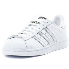 adidas Superstar Womens Trainers White Silver New Shoes