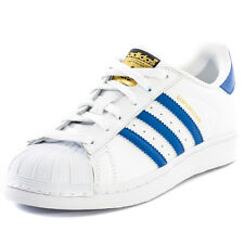 adidas Superstar Foundation Kids Trainers White Blue New Shoes