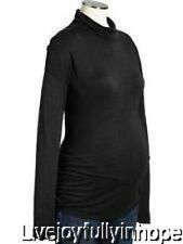OLD NAVY MATERNITY ~ New NWT ~ Size  XL  ~ Black RAYON TUNIC Turtleneck Shirt