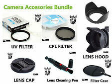 FK55 58mm CPL UV Filter + Lens Hood + NX Cap + LensPen + Case for Samsung