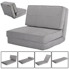 Fold Down Chair Flip Out Lounger Convertible Sleeper Bed Couch Dorm Guest US