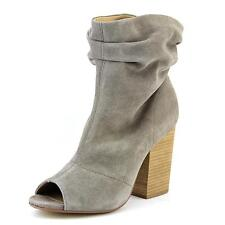 Chinese Laundry Break Up Women  Peep-Toe Suede Gray Ankle Boot