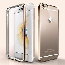 Silicone Shockproof Rubber Metal Bumper Clear Soft Case Cover For iPhone 6 6s