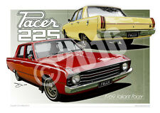 Valiant VF Pacer Art Prints in 23 colour schemes from Unique Autoart (unframed)