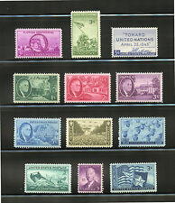 L49  U.S COMMEMORATIVE YEAR SET 1945   12 STAMPS 927 - 938 MINT NEVER HINGED