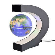 Black/Blue Magnetic Levitation Floating Globe World C shape Map LED Light ,Sale