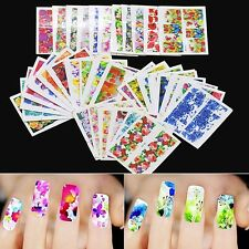 50 SHEETS 3D Nail Art Transfer Stickers Design Manicure Tips Decal Decoration