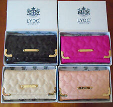 LYDC Designer Patent Leather Style Purse/Wallet with Gift Box