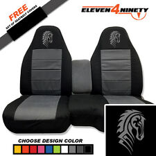91-15 Ford Ranger Black Charcoal 60-40 Seat Covers Tribal Horse Choose UR colors