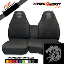 91-15 Ford Ranger Charcoal 60-40 Seat Covers Tribal Lion Choose From 9 colors