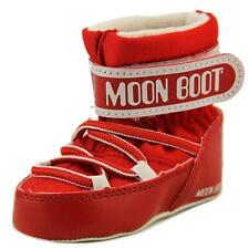 Moon Boot Moon Boot Crib Infant  Round Toe Synthetic Red Winter Boot