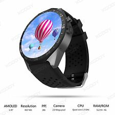KW88 Android 5.1 Quad Core Bluetooth 3G Smart Watch 4GB GPS WIFI For Phone IOS